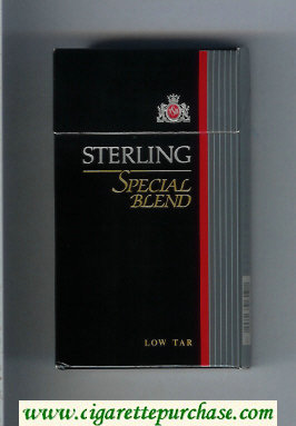 Sterling Special Blend 100s cigarettes hard box