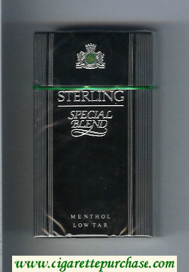 Sterling Special Blend 100s Menthol cigarettes hard box