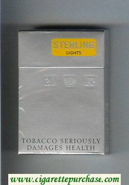 Sterling Lights cigarettes hard box