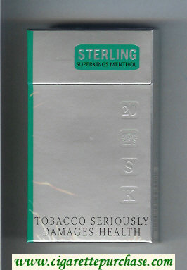 Sterling Menthol 100s cigarettes hard box