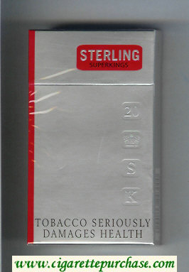 Sterling 100s cigarettes hard box