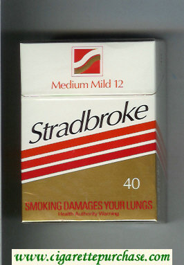 Stradbroke Medium Mild 12 40 cigarettes hard box