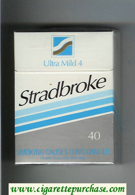 Stradbroke Ultra Mild 4 40 cigarettes hard box