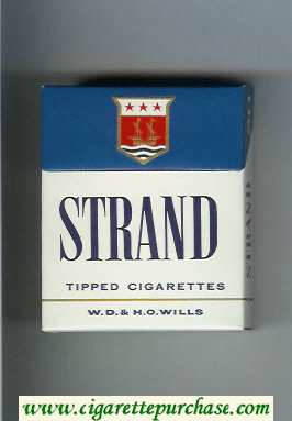 Strand Tipped cigarettes hard box