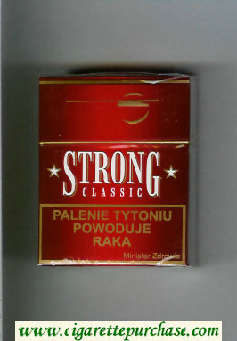 Strong Classic red cigarettes hard box