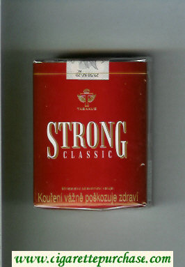 Strong Classic cigarettes red soft box
