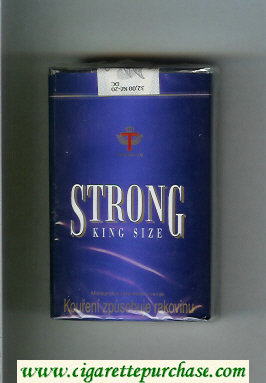 Strong cigarettes blue soft box