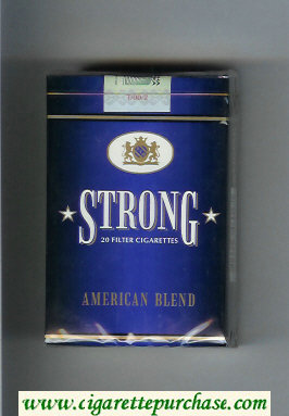 Strong American Blend cigarettes soft box