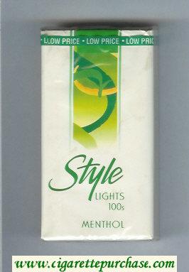 Discount Style Lights Menthol 100s cigarettes soft box