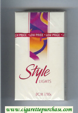 Discount Style Lights 100s cigarettes hard box