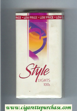 Style Lights 100s cigarettes soft box