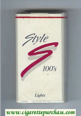 Discount Style 100s Lights cigarettes soft box