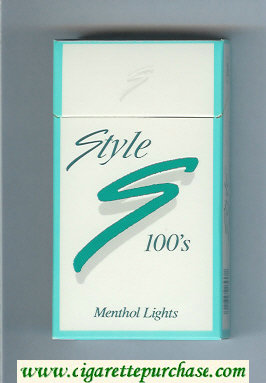 Style Menthol Lights 100s cigarettes hard box