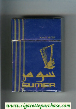 Sumer Cigarettes blue hard box