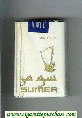 Sumer Cigarettes white soft box