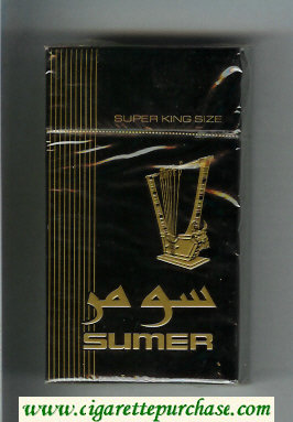 Sumer 100s Cigarettes black hard box