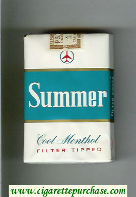 Summer Cool Menthol Filter Tipped Cigarettes soft box