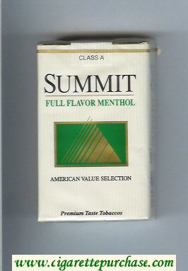 Summit Full Flavor Menthol Cigarettes soft box