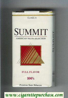 Summit Full Flavor 100s Cigarettes soft box