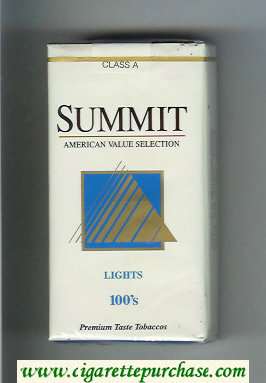 Summit Lights 100s Cigarettes soft box