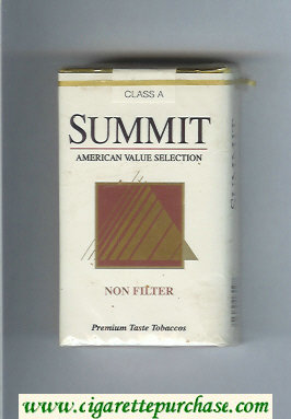 Summit Non Filter Cigarettes soft box