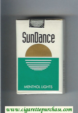 SunDance Menthol Lights Cigarettes soft box