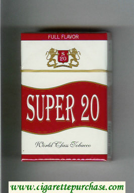 Super 20 Full Flavor Cigarettes hard box