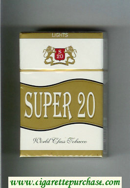 Super 20 Lights Cigarettes hard box
