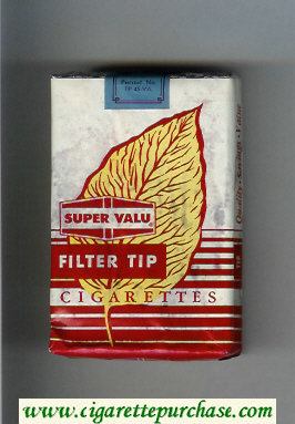 Super Valu Filter Tip Cigarettes soft box