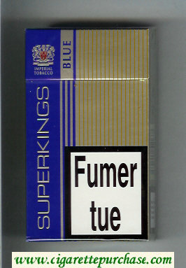 Superkings Blue 100s Cigarettes hard box