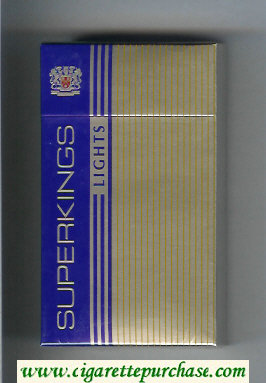 Superkings Lights 100s Cigarettes hard box