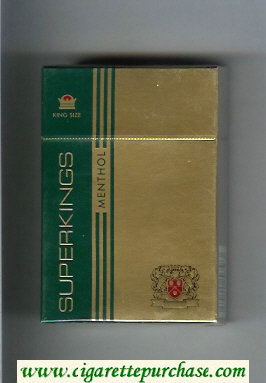 Superkings Menthol Cigarettes hard box