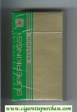 Superkings Menthol 100s Cigarettes hard box