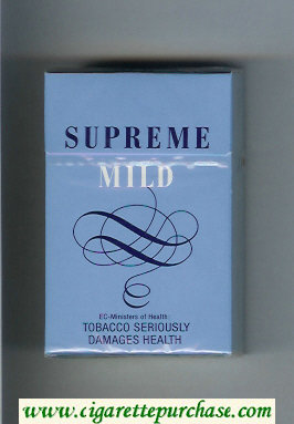 Supreme Mild Cigarettes hard box