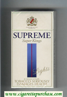 Supreme Lights Super Kings 100s Cigarettes hard box
