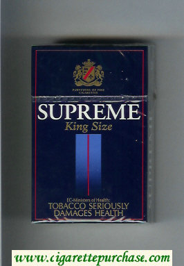 Supreme King Size Cigarettes hard box