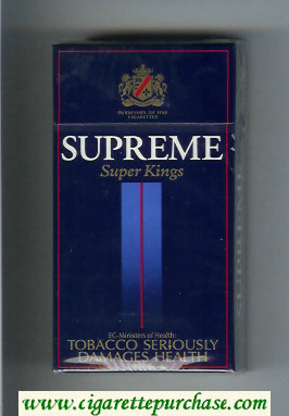 Supreme Super Kings 100s Cigarettes hard box