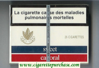 Sweet Caporal 25 Cigarettes wide flat hard box