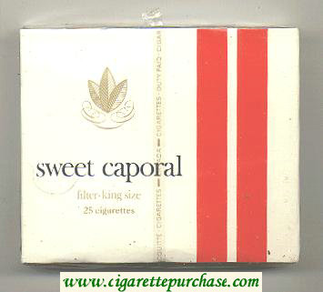 Sweet Caporal Filter 25 Cigarettes hard box