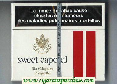 Sweet Caporal Filter 25 Cigarettes wide flat hard box