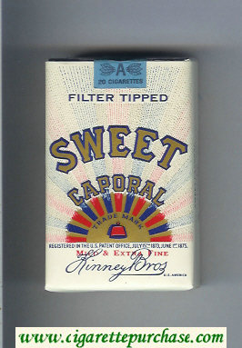 Sweet Caporal Cigarettes soft box