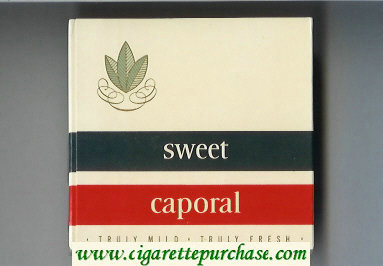 Sweet Caporal wide flat hard box Cigarettes