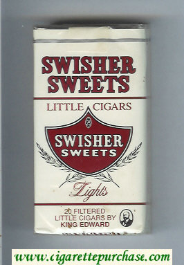 Swisher Sweets Lights 100s Little Cigars Cigarettes soft box