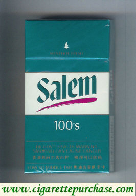 Discount Salem 100s Menthol Fresh with red line cigarettes hard box