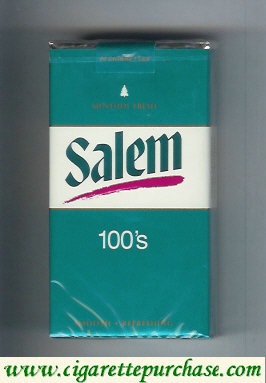 Discount Salem 100s Menthol Fresh with red line cigarettes soft box