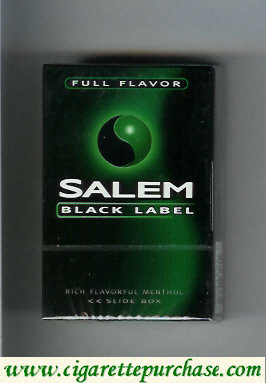 Discount Salem Black Label Full Flavor cigarettes hard box
