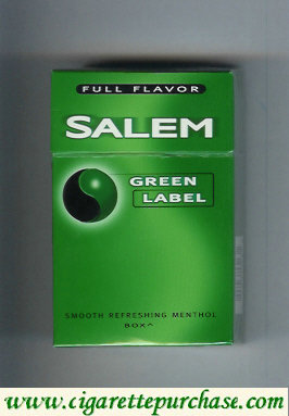 Discount Salem Green Label Full Flavor cigarettes hard box