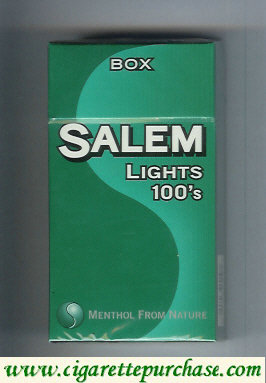 Discount Salem Lights 100s Box cigarettes hard box