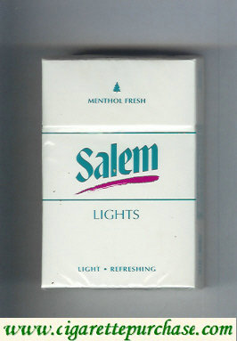 Discount Salem Lights Menthol Fresh with red line cigarettes hard box