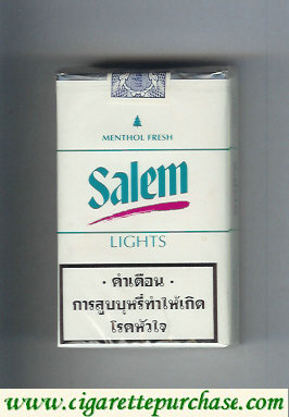 Discount Salem Lights Menthol Fresh with red line cigarettes soft box